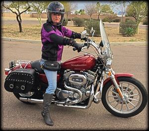 Cindi Scanlon Harley Davidson Sportster