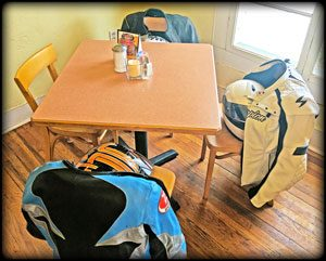 riding gear dinner table