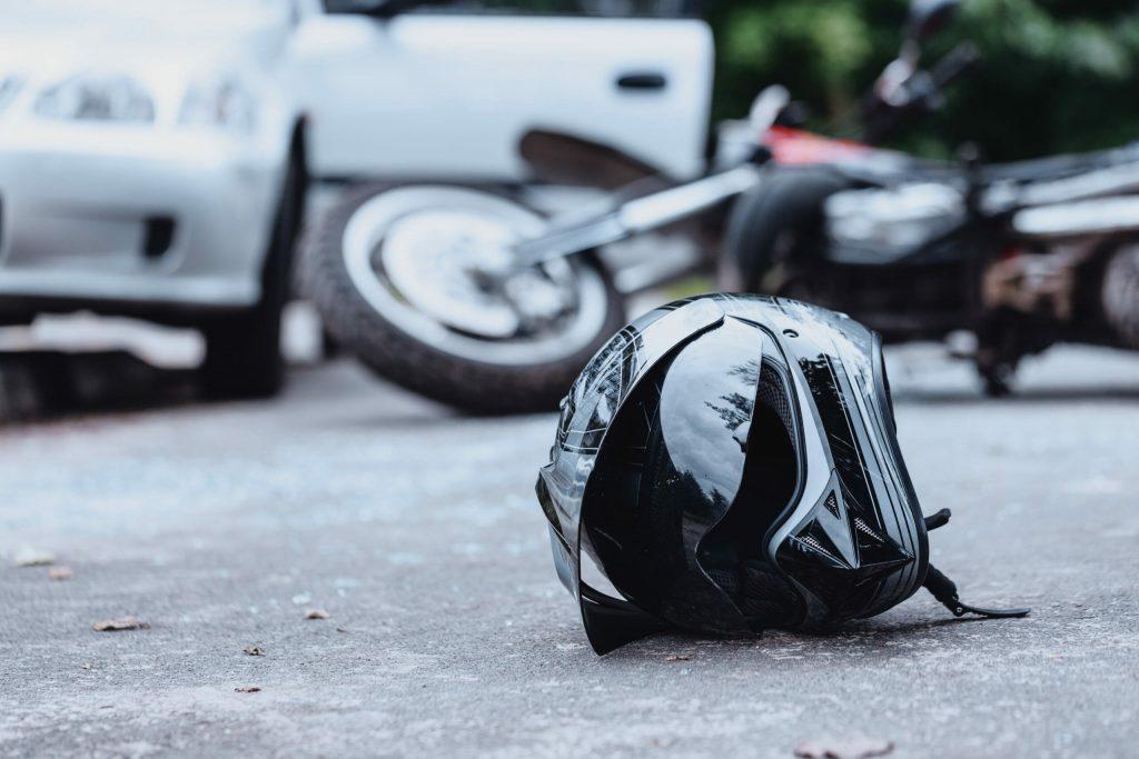 motorcycle helmet on groundjpg